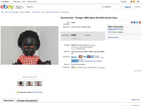 haunted doll sold on ebay i sold a quot haunted quot doll on ebay higgypop