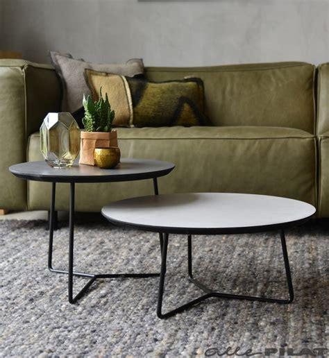 ronde salontafel beton ronde salontafel roy met een grijs beton cir 233 blad
