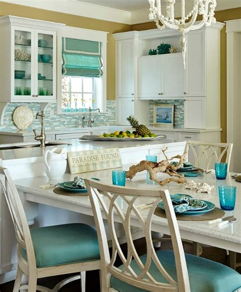 themed kitchen ideas turquoise blue white beach theme kitchen paradise