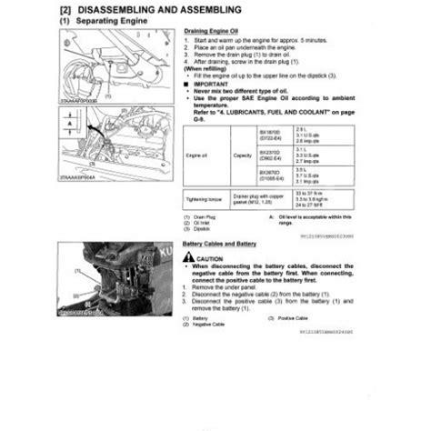 kubota bx bx bx workshop manual