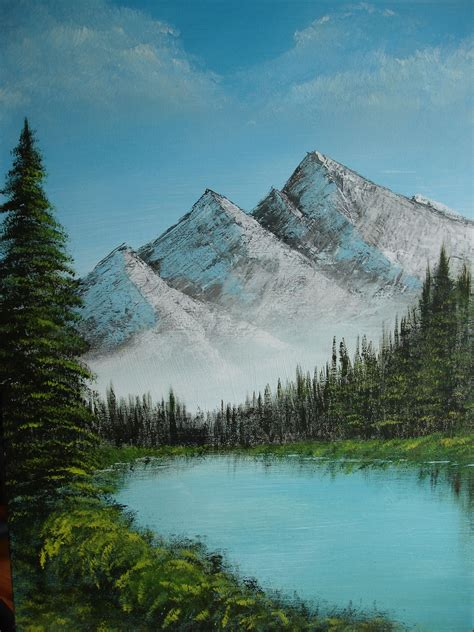 bob ross painting lake bob ross landscape by sosyalinsan on deviantart