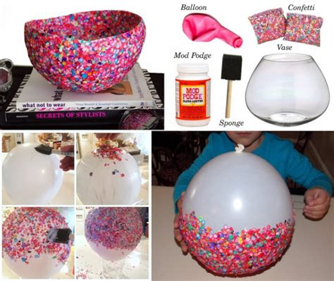 craft projects diy craft project confetti bowls find projects