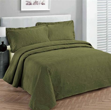 olive green comforter top 5 green bedspreads you ll love interiors by color