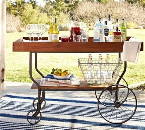 tavern bar cart outdoor serving carts
