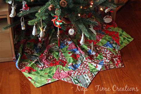 paper piecing christmas tree skirt life sew savory