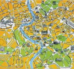 Rome Italy Map by Map Of Rome