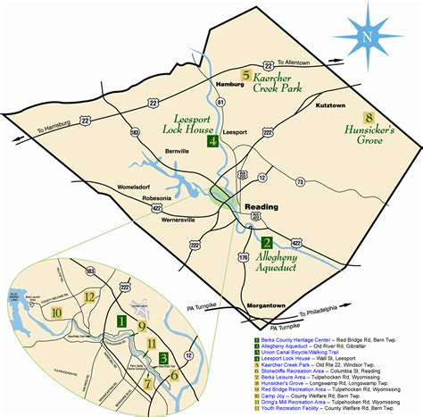 Home Access Center Berks by Berks County Parks Map