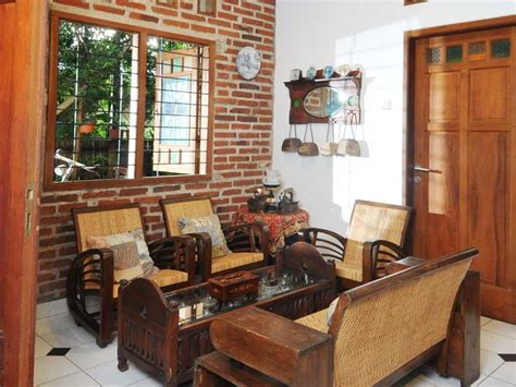 desain interior ruang tamu dengan kursi kayu 84 desain interior rumah kayu klasik desain