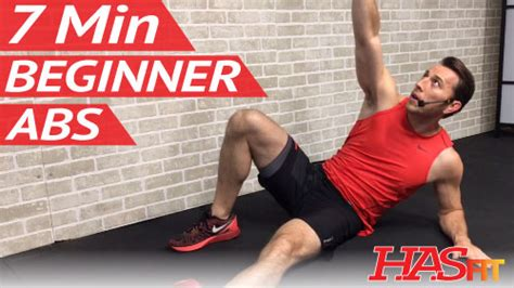 7 min beginner ab workout for hasfit free length workout and fitness