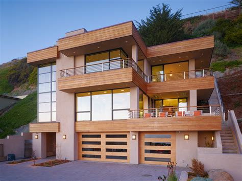 modern beach house houzz front exterior view contemporary exterior other