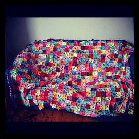 Patchwork Crochet Blanket - patchwork crochet square blanket 183 a square