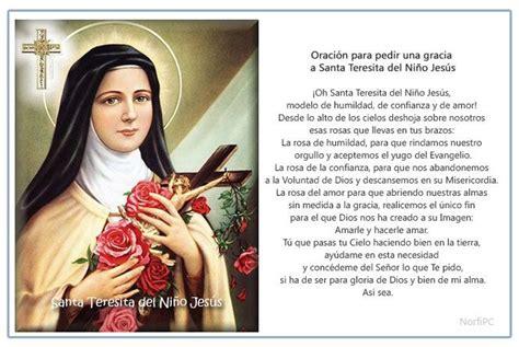 imagenes religiosas santa teresita imagen para imprimir de la oraci 243 n para pedir una gracia a