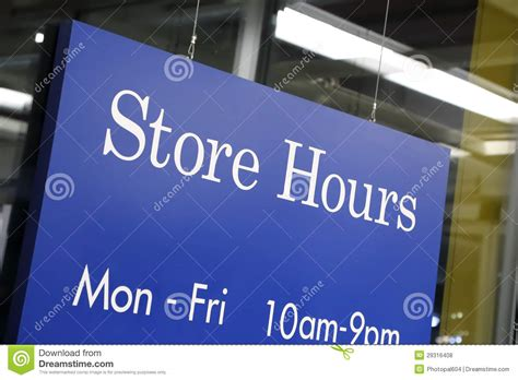 opening hours sign royalty free stock photo