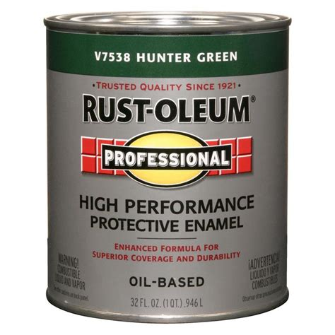 shop rust oleum professional green gloss enamel interior exterior paint actual net
