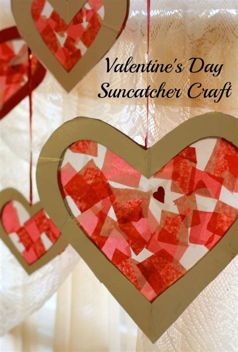 Valentines Paper Crafts - easy s day craft for tissue paper