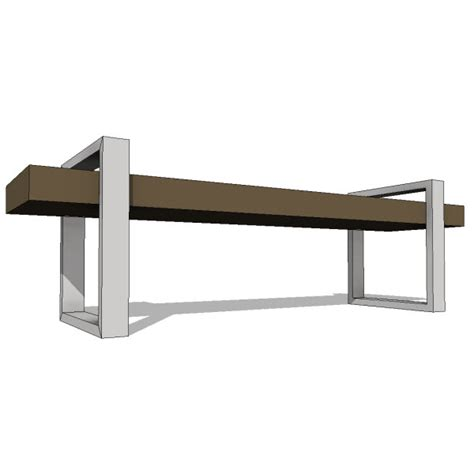 return bench gus modern return bench 10146 2 00 revit families