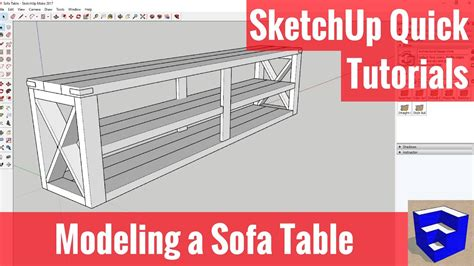 sketchup tutorial on youtube modeling a sofa table in sketchup sketchup quick