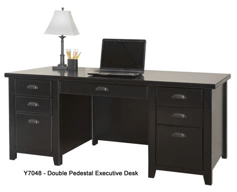 Black Office Desks Tribeca Loft Black Office Furniture Series Pedestal Executive Desk