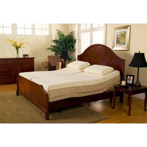 Bed And Mattress Set by Sleep Zone Supreme Adjustable Bed And 10 Inch Hybrid Split