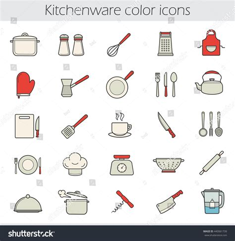 38 stock of kitchen utensils list small kitchen sinks cooking instruments color icons set kitchen tools and