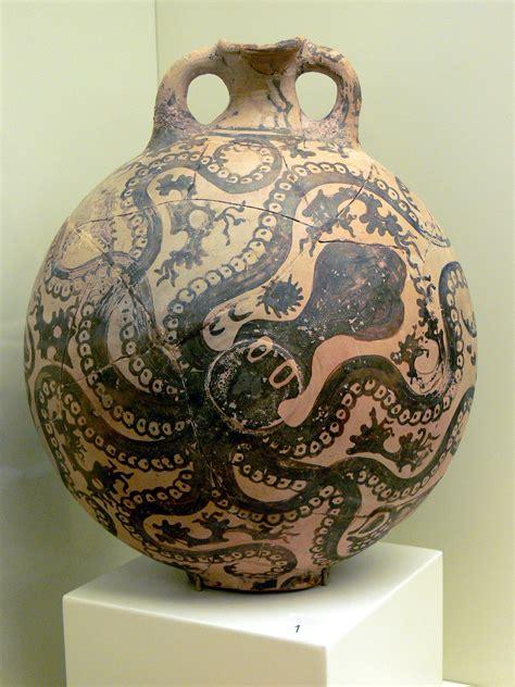 Minoan Octopus Vase by Minoan Pottery The Free Encyclopedia
