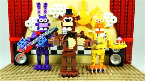lego fnaf tutorial how to build lego fnaf show stage lego five nights at