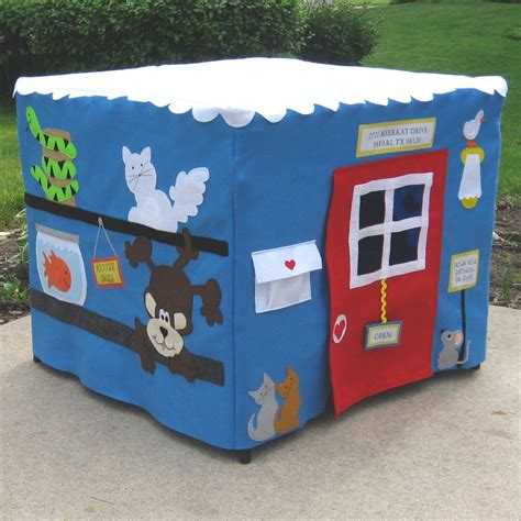 card table playhouse pet shop felt fabric card table playhouse personalized