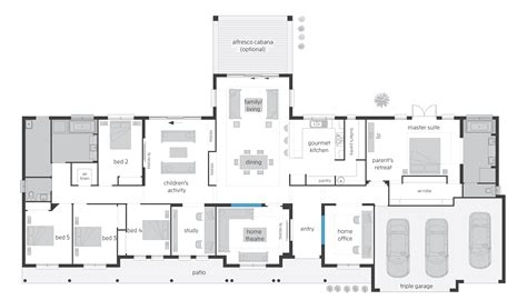 executive home floor plans bronte floorplans mcdonald jones homes