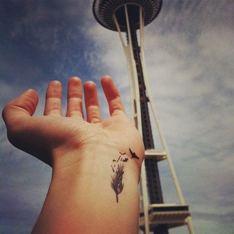 space needle tattoo a and the space needle tattoos
