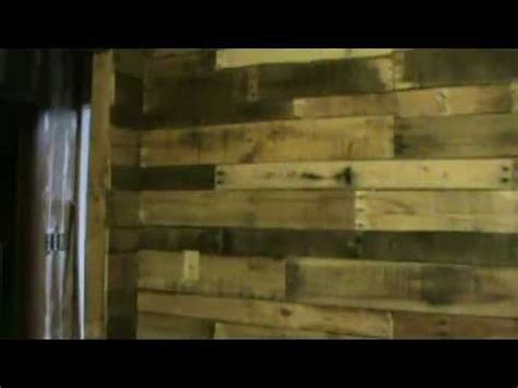 diy shipping pallet interior walls