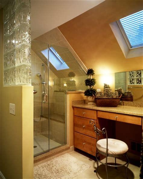 bathroom sloped ceiling design want