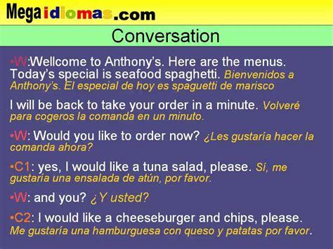 preguntas en frances en un hotel conversaci 243 n en ingl 233 s de restaurante comer fuera de casa