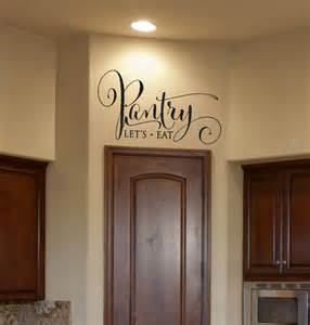 kitchen decor pantry decal pantry sign pantry wall decal