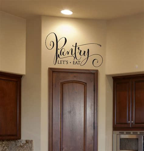Pantry Signs by Kitchen Decor Pantry Decal Pantry Sign Pantry Wall Decal