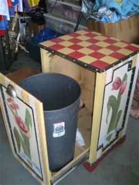 diy pallet trash can cabinet trash can enclosure made from old pallet wood home