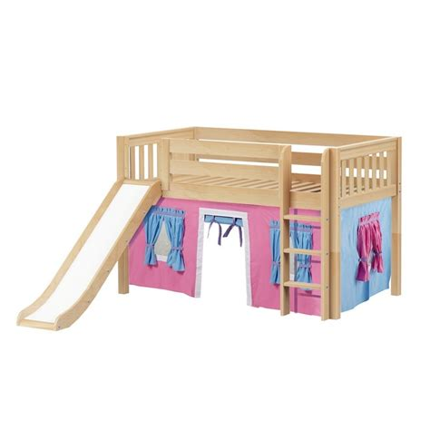loft bed curtain maxtrixkids pit28 ns low loft bed with straight ladder