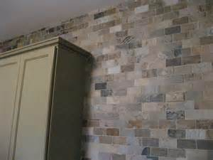 brick wall tile backsplash design