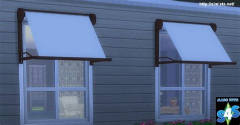 modern window awnings simista modern window awning sims 4 downloads