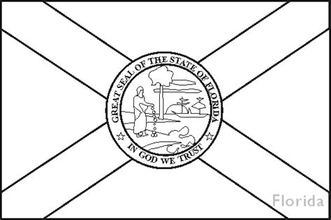 Florida Flag Coloring Page florida state flag coloring pages usa for
