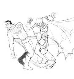 superman batman coloring pages