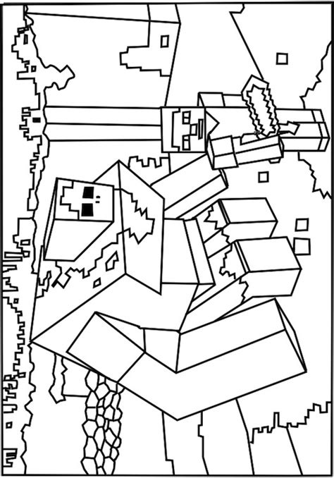 minecraft coloring pages monsters a printable roblox minecraft monster coloring page