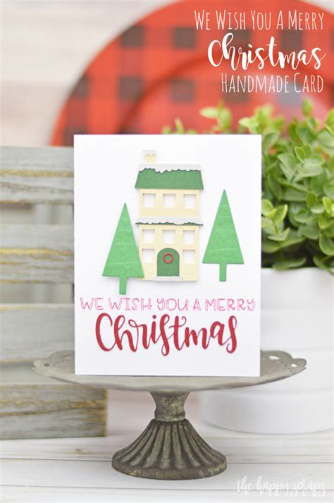 handmade holiday cards  cricut maker  happy scraps