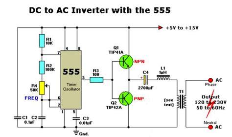 converter dc ke ac listrik dan elektronika inverter dc ke ac dengan ic 555