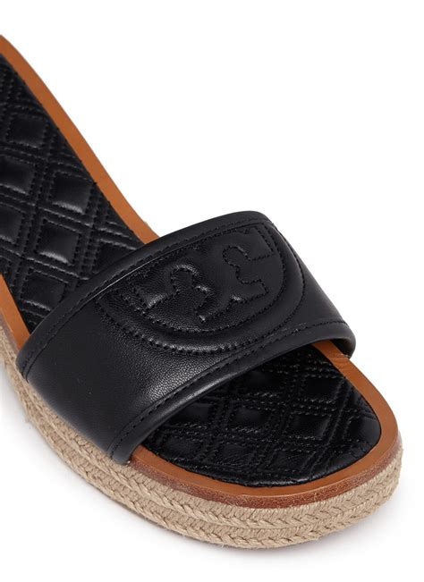 black burch sandals lyst burch fleming leather espadrille sandals in
