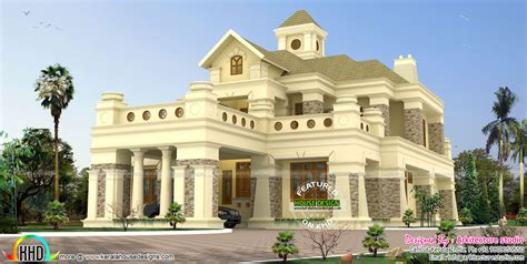 luxury colonial house plans 506 sq yd luxury colonial house kerala home design and