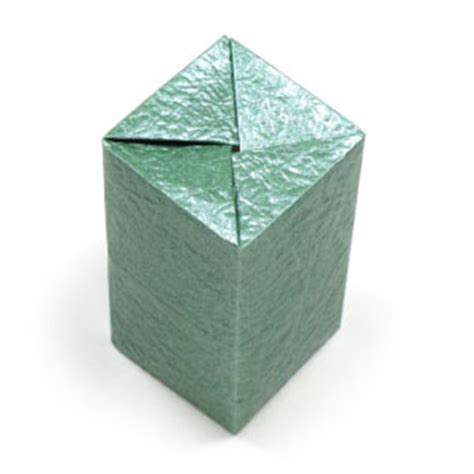 How To Make An Origami Rectangle Box - how to make a closed rectangular origami box ii page 1