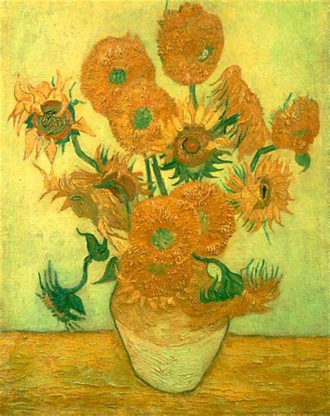 14 Sunflowers In A Vase by Order Painting 14 Sunflowers In A Vase In Front Of A
