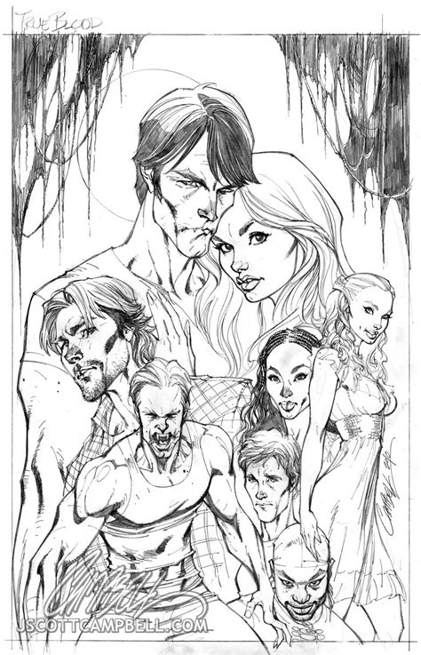 true blood coloring pages true blood cover 1 pencils by j scott cbell on deviantart