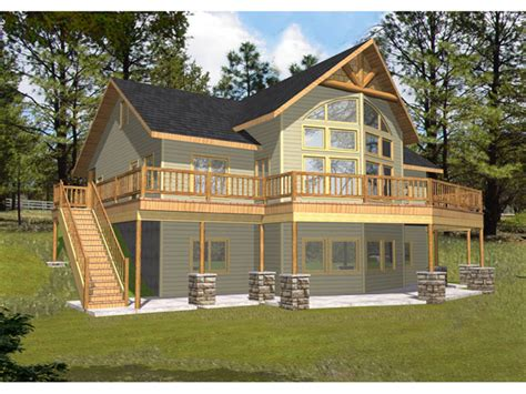 cabin mountain home plan 088d 0345 house plans