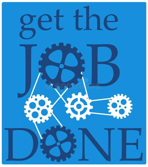 Get The Done get the done stock illustration illustration of